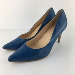 Cole Haan + Nike Air Blue Patent Pumps Size 7B